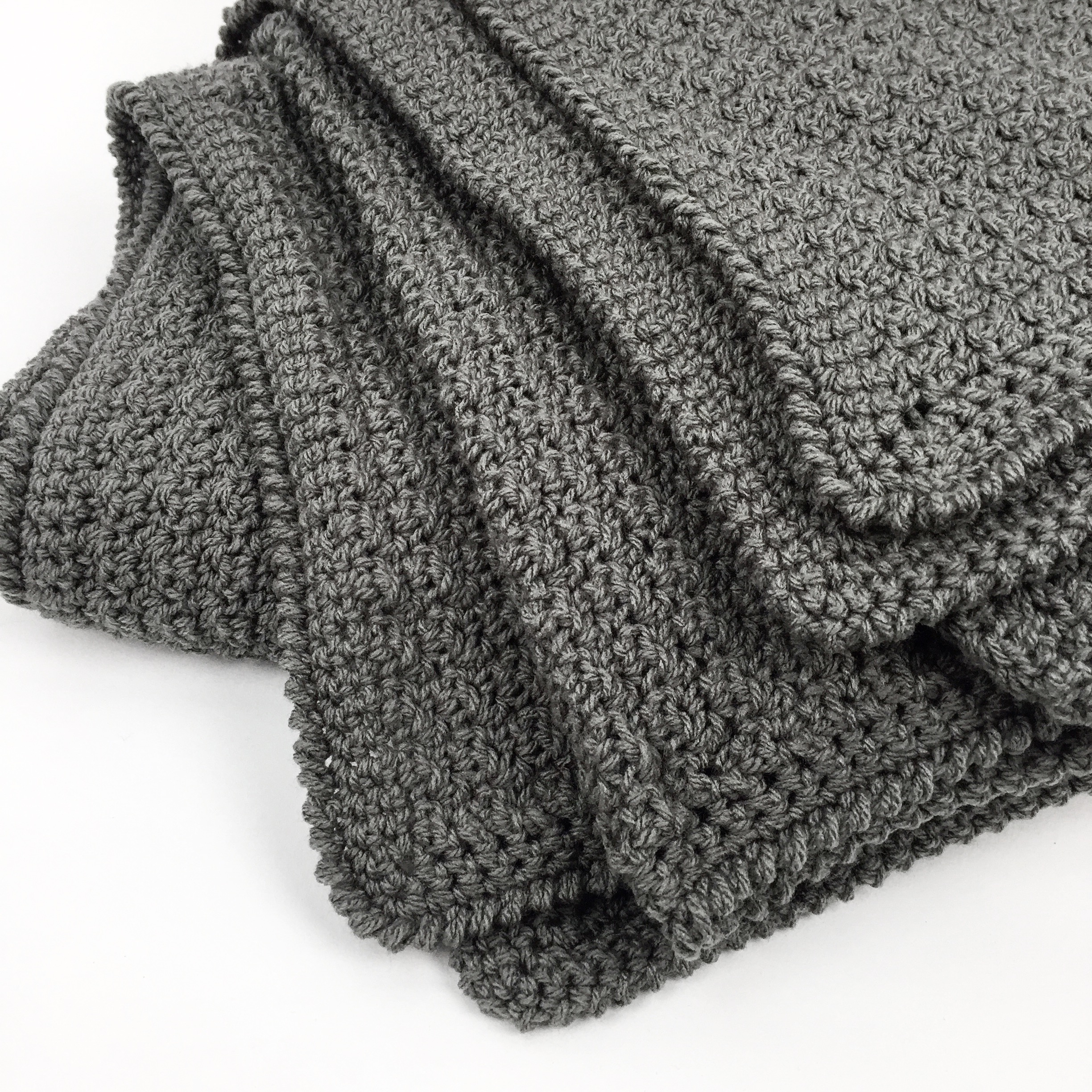 Handmade Crochet Throw Dark Grey Artigaprest