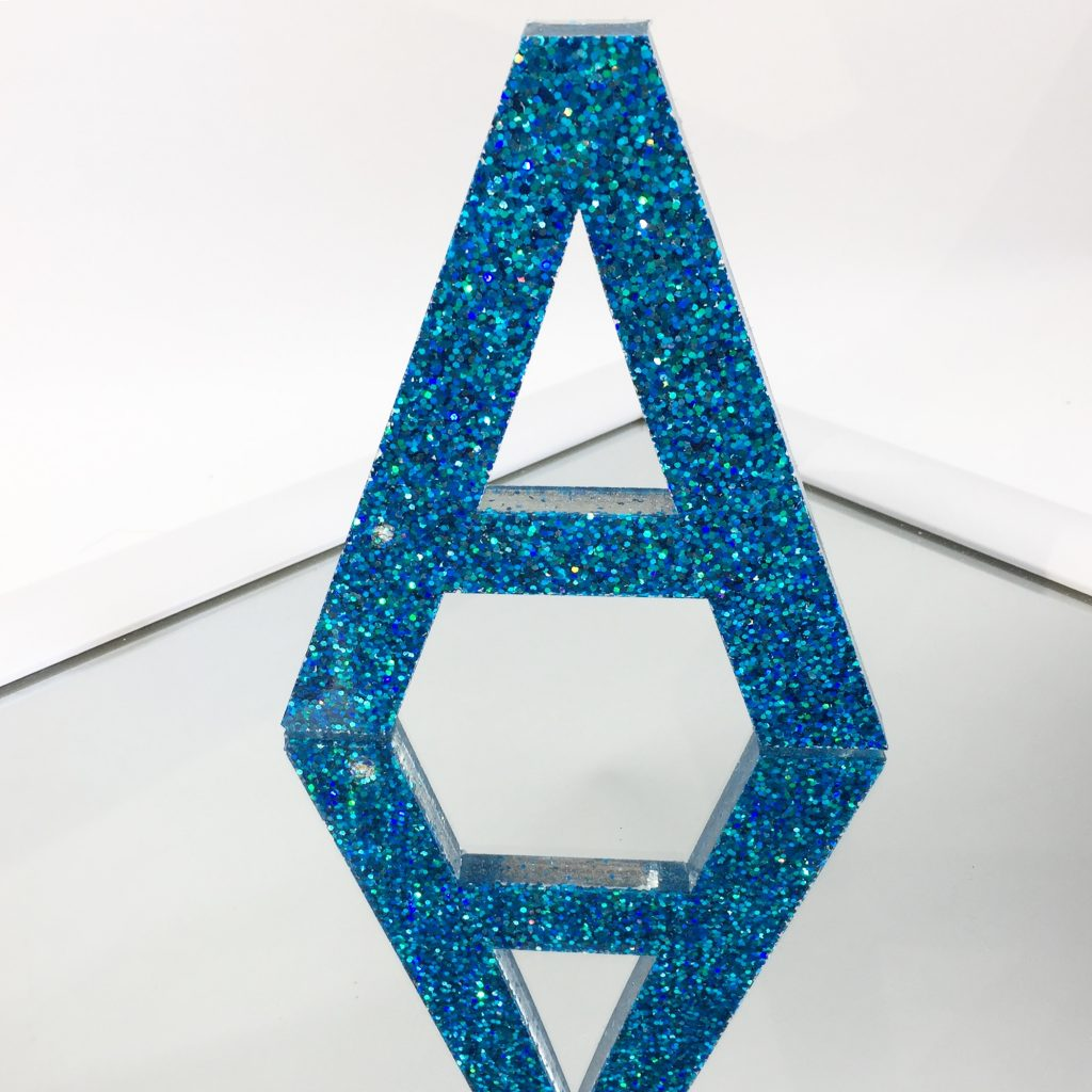 Resin Letters Glitter Aqua Artigaprest