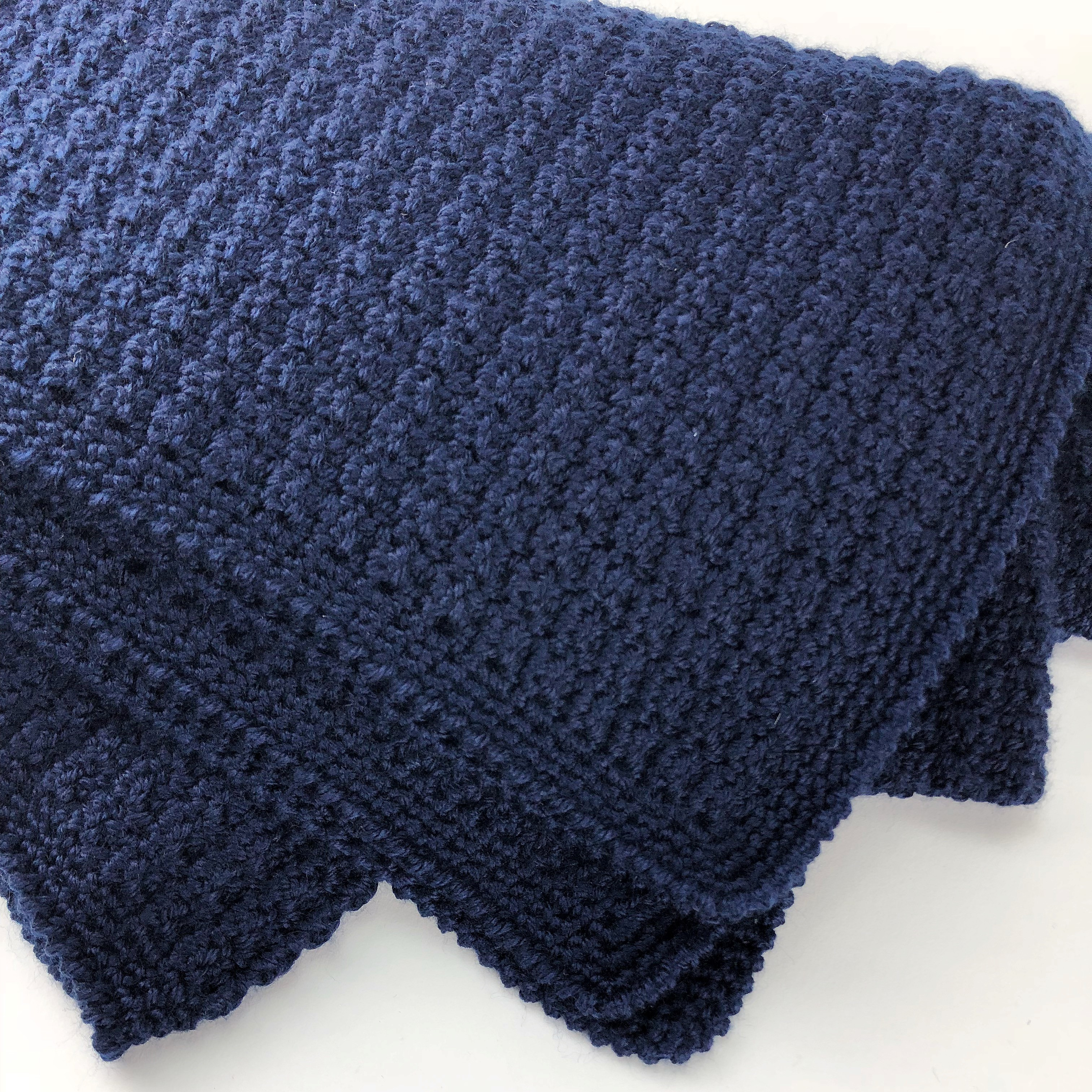 Handmade Crochet Throw Navy Artigaprest